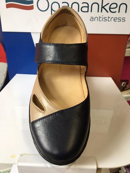 Sapato Opananken Enjoy Marinho/amêndoa 63807