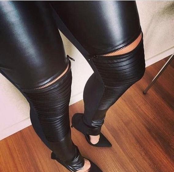 Calça Feminina Tecido Cirre Tratorada Com Zíper Skinny 148