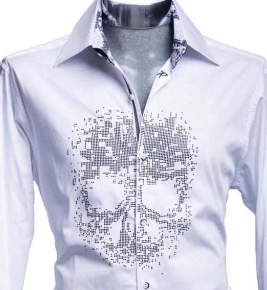 Camisa Rafael Amaya Luxury 211 Skull Señor De Los Cielos