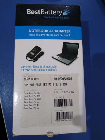 Fonte Notebook Asus Eeepc 9.5v 2.31a 22w Best Battery