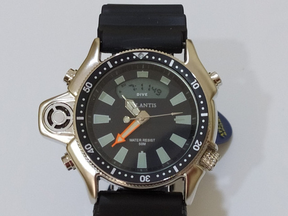 Relógio Masculino Atlantis Sports G3220 Borracha Preto