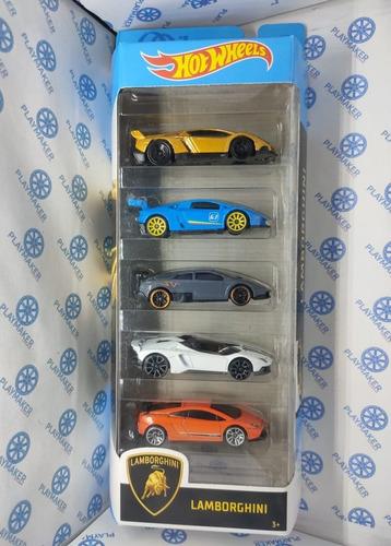 Hot Wheels Lamborghini Gift Pack 5 Modelos 2020 Set Regalo
