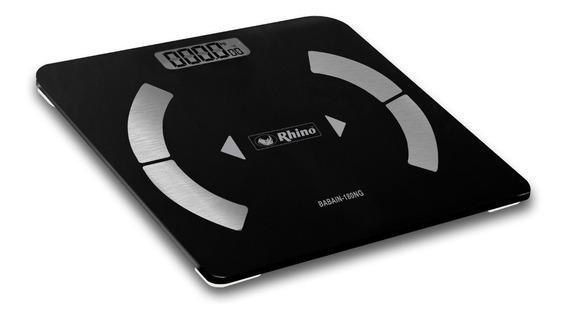 Báscula De Baño Inteligente Rhino 180kg Bluetooth Rbanda