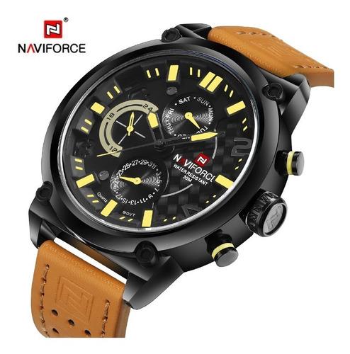 Relógio Masculino Naviforce Movimento De Quartzo Original Nf