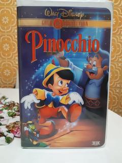 Fita Vhs Filme Pinóquio Versão Americana Walt Disney