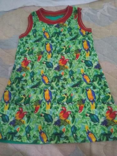 Imagen 1 de 2 de Vestido Niña Cheeky Talle 4 Color Verde Perfecto Estado