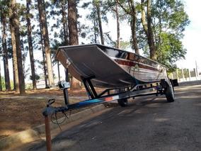 Barco De Alumínio Semi Chata.
