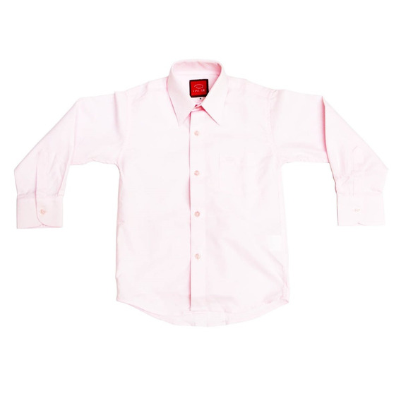 Camisa Manga Larga Oscar Rosa Pastel Tirantes Y Moño 10 A 20