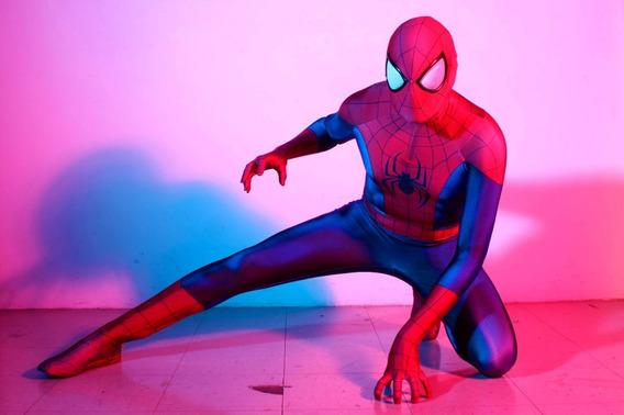 Traje De Spiderman Talla M 1.70 - 1.78 Listo Para Enviar