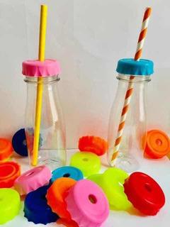 Botella Plástica 190 Cc Tapón Corona Perforado Candy X 30 Un