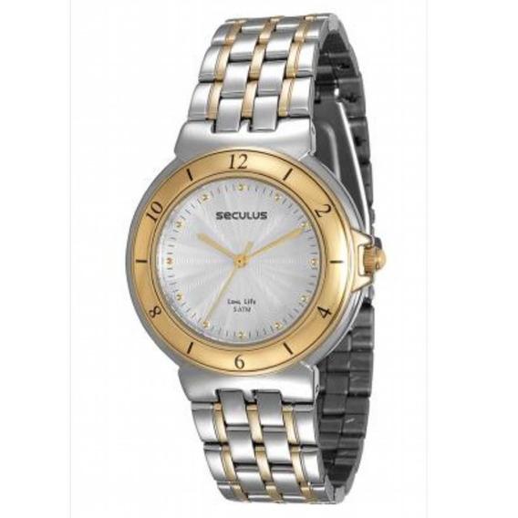 Relógio Seculus Bicolor 23530lpsvba4 - Prateado E Dourado