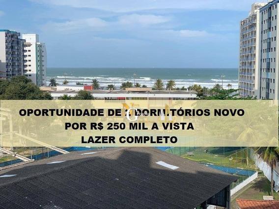 Apartamento 2 Dormitórios 60 M² Por R$ 250.000,00 Na Ocian - Praia Grande/sp - Ap2363