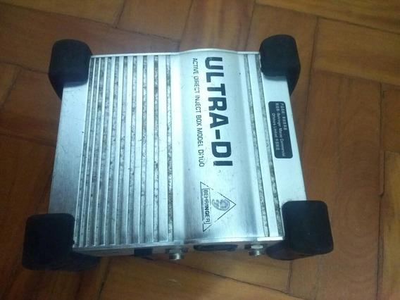 Direct Box Ativo Di 100 Behringer Ultra Di 100 Áudio Profis