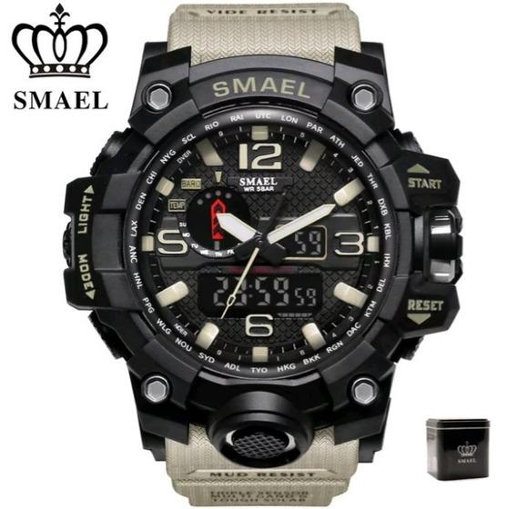 Relógio Smael Original Na Caixa Digital Resistente A Água