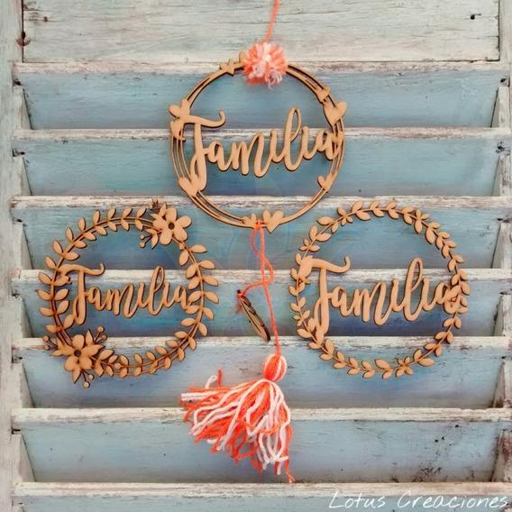 Palabras Decorativas-familia -corte Láser- Lotus Creaciones