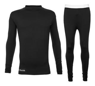 Equipo Remera Termica Primera Piel Calza Larga Kit Camiseta Bodytherm