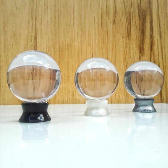 Bola De Cristal + Lindo Suporte ( Similar A Lensball )