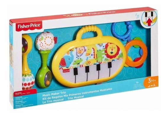 Brinquedo Educativo Trio Musical Fisher Price C/ Chocalhos