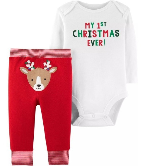Ropa De Bebes Carters Conjuntos/set De 2 Pza De Navidad