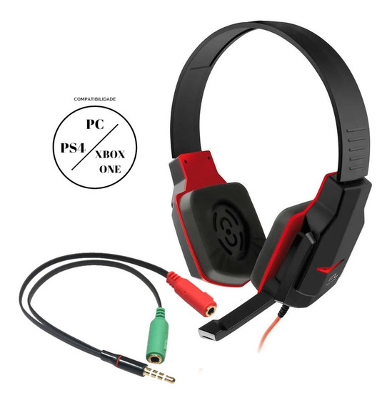 Fone De Ouvido Com Microfone Headset Gamer Compatível Ps4 Xbox One Pc Notebook Multilaser Ph073