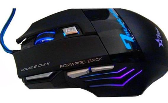 Mouse Gamer Jogos Pc Led Rgb Usb Profissional C/ Nf Promoção