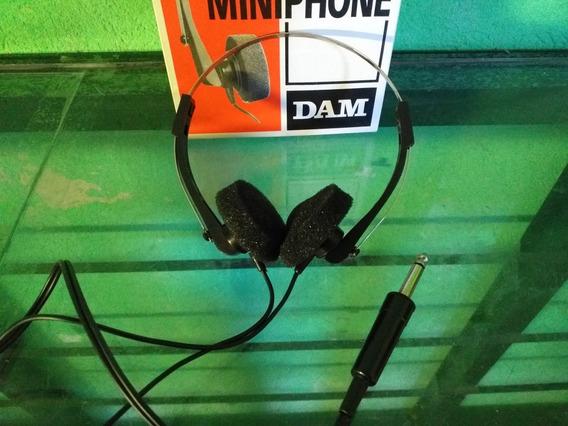 Fone De Ouvido P10 Dam Mono, Antigo, P10, Caixa, Nunca Usado
