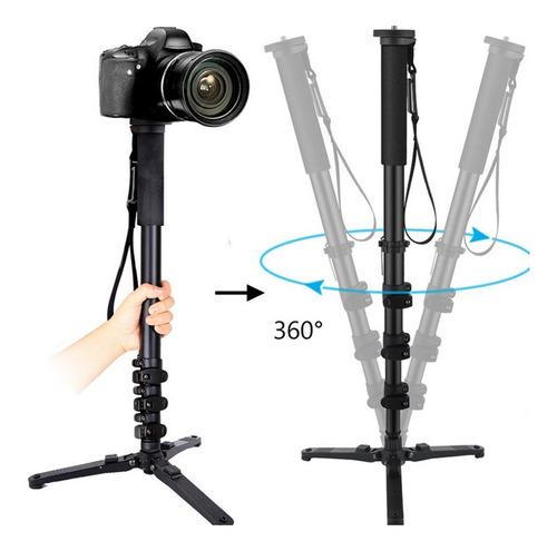 Tripé Pé De Galinha Pro Universal Telescópico Câmera 1,47m