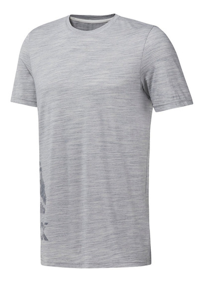 Reebok Remera M/c Hombre Marble Group Tee Gris