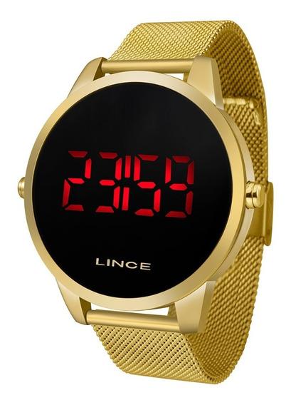 Relógio Lince Digital Led Dourado Original Com Nota Fiscal