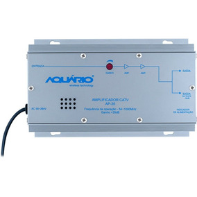 Amplificador De Potencia Aquario Ap-35 35db Catv Uhf E Vhf