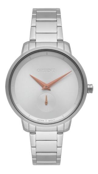 Relógio Orient Feminino Fbss0077 S1sx Prata Rose Analogico
