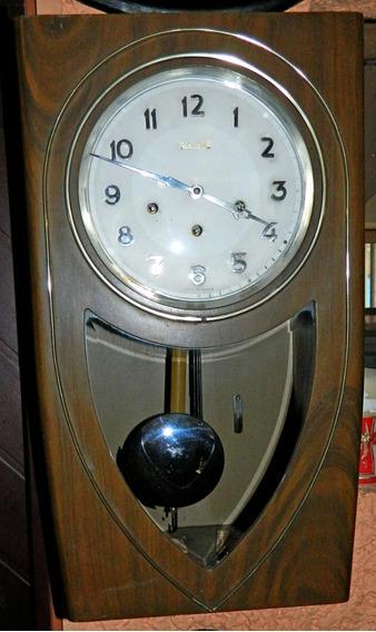 Antiguo Reloj Francés Pared Ontario Funciona Guadalupana