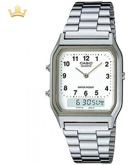 Relógio Casio Unissex Aq-230a-7bmq Vintage Com Nf