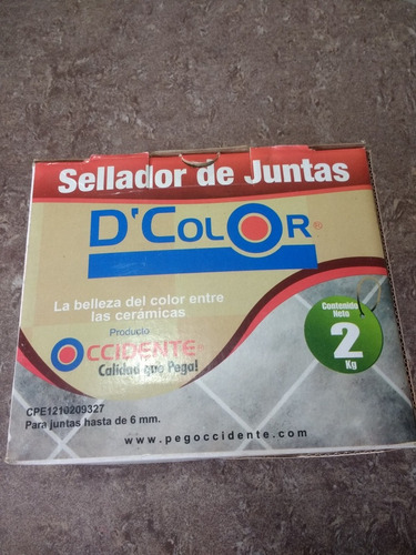 Sellador De Juntas Para Ceramicas D'color