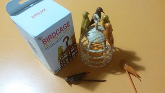 Copetinero Pinches Para Picada Jaula Pajarito Aves