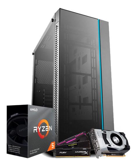 Pc Gamer Ryzen 5 3600, Asus B450m, Gtx 1660ti 6gb, Ssd 512gb