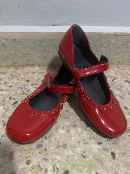 Zapato Niña Rojo Talla 32 Marca Monalisa No Usados