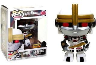 Funko Pop #668 Power Rangers White Tigerzord Hot Topic Excl