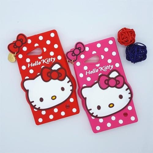 Case Para Sony Xperia E4g De Goma Hello Kitty