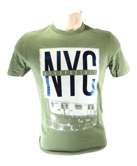 Camisa Aeropostale Masculina Verde Nyc