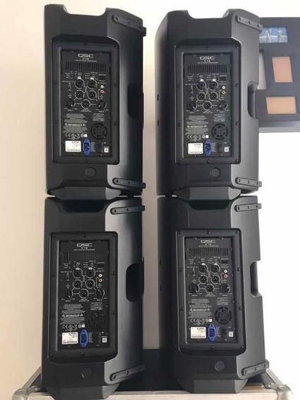 Kit 4 Qsc K12 Caixa Ativa 1000w Bi Amplificada Semi-novas