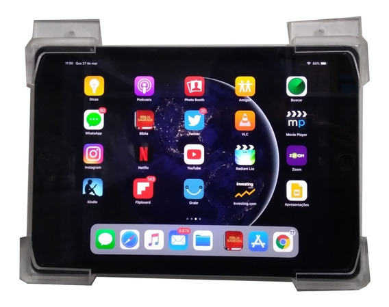 Dock Para iPad De Parede Em Acrílico Reforçado