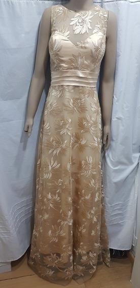 Vestido Color Champagne/dorado.