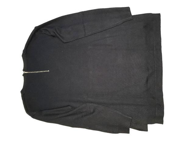 Sweater Negro Cuello Redondo Talle L