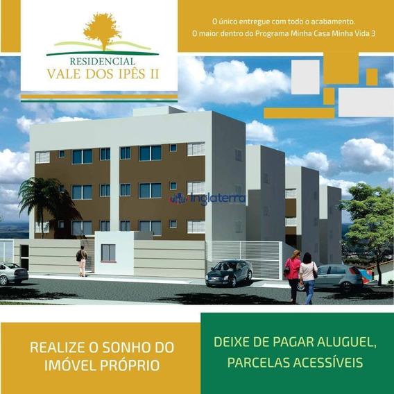 Apartamento À Venda, 50 M² Por R$ 132.000,00 - Vila Ypê - Ibiporã/pr - Ap1268