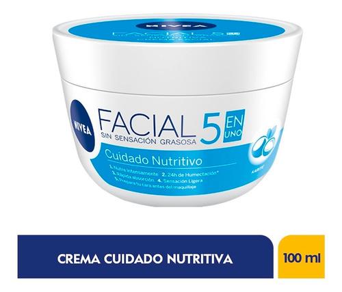 Crema Facial Nivea Cuidado Nutritivo 5 En 1 X 100ml