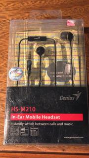 Auricular Genius Hs-m210 Con Micrófono Incluido Excelentes