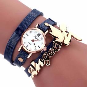 Relógio E Pulseira Feminino Tipo Bracelete Angel Dk8 -rel