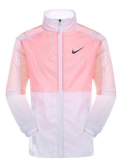 Jaqueta Corta Vento Feminina Transparente Rosa Nike