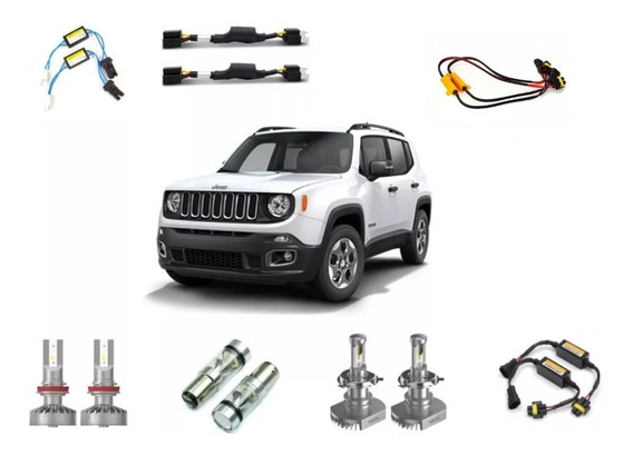 Kit Super Led Philips Ultinon + Drl Jeep Renegade